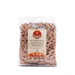 Maccheroncini - Pasta di Farro Dicoccum integrale Trafilata al Bronzo 500 g.