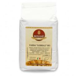 Farina integrale ai 5 cereali 5 Kg (20% di: farina int.farro diccocum,farro int. farro spelta,20%farina integrale d'aven