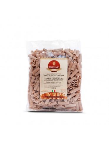Maccheroncini - Pasta di Farro Dicoccum integrale Trafilata al Bronzo 12x500g