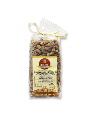 Maccheroncini - Pasta di Farro Monococcum integrale Trafilata al Bronzo 12x500g