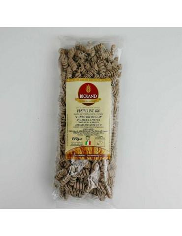 Fusilli - Pasta di Farro Dicoccum Integrale Trafilata al Bronzo 500g - 12 pz