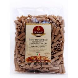 Maccheroncini - Pasta di Farro Dicoccum integrale Trafilata al Bronzo 500g